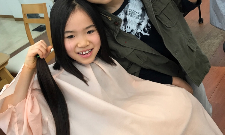 うまれて初めてのカットでヘアドネーション(^^)!!